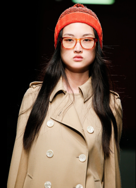 A fashion detective look from the Gucci Autumn/Winter 2015 fashion show.