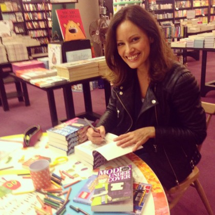 Signing stock at Waterstones Piccadilly.