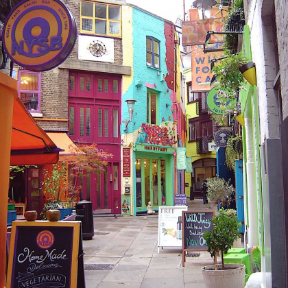 The little streets all around Covent Garden are fun to explore...