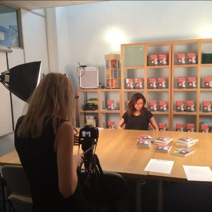 Shooting video for my Totally Tween interview!