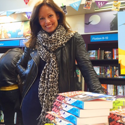Signing books at the Waterstones on Princes Street...