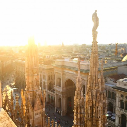 The view from the Duomo rooftop! Go at sunset...