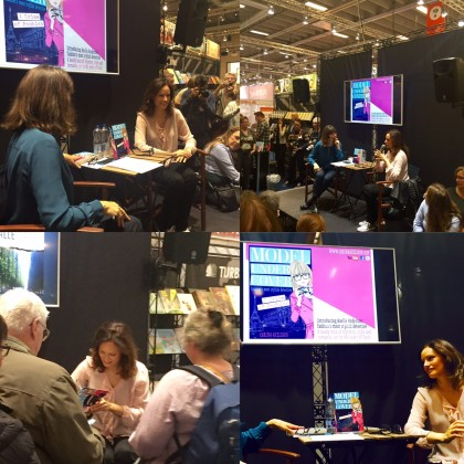 Doing an event at the Copenhagen Book Fair with my friend, the actress Ellen Hillinsø. I had such a fab time!