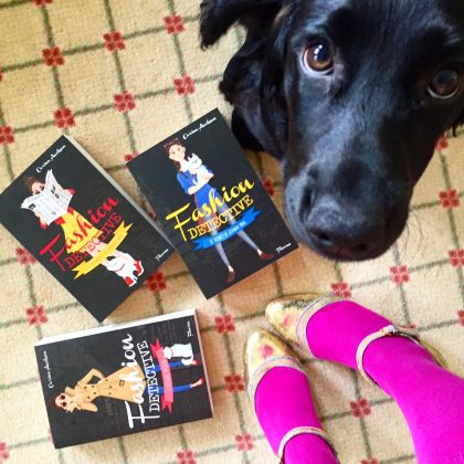When your puppy photobombs your book birthday cover shot!