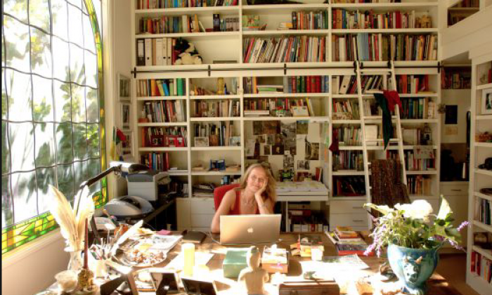 Cornelia Funke writing room