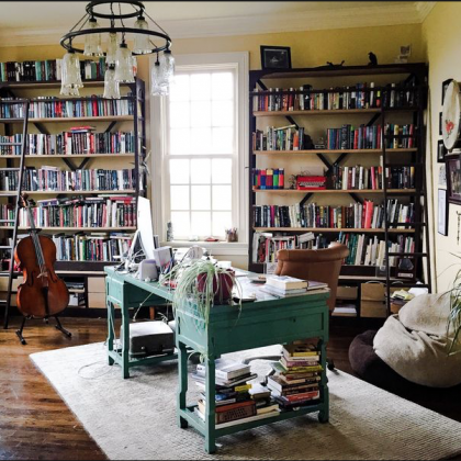 Maggie Stiefvater writing room